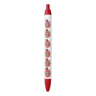 Glücklicher Marienkäfer-Ordnungs-Stift, schwarze Kugelschreiber