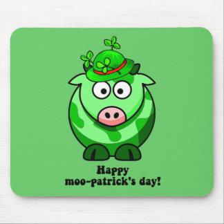 glücklicher MOO patricks Tag Mousepads