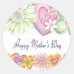 Glücklicher Mutter-Tag Runde Sticker