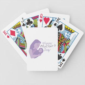 Glücklicher Mutter-Tag Spielkarten
