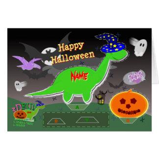 Glücklicher niedlicher Schnitt Halloweens Karte
