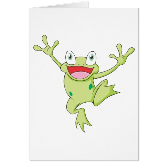 Glücklicher Ochsenfrosch Grußkarte
