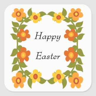 Glücklicher Ostern-Aufkleber Quadratischer Aufkleber