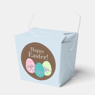 Glücklicher Ostern-Gastgeschenk-Kasten mit Eiern Geschenkschachtel
