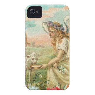 Glücklicher Osternengel und -lamm Case-Mate iPhone 4 Hülle