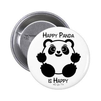 Glücklicher Panda Runder Button 5,7 Cm