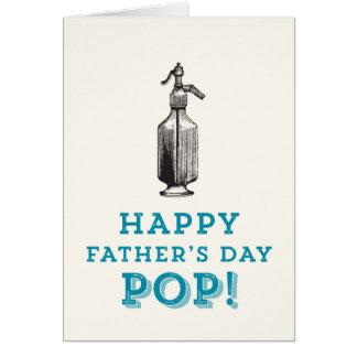 Glücklicher POP der Vatertag! Grußkarte