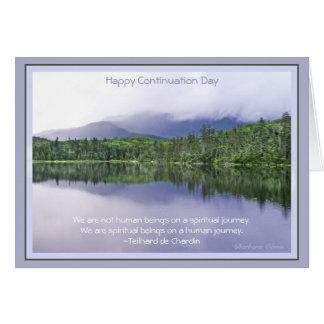 Glücklicher Prolongationstag: Feiern von Reise des Karte