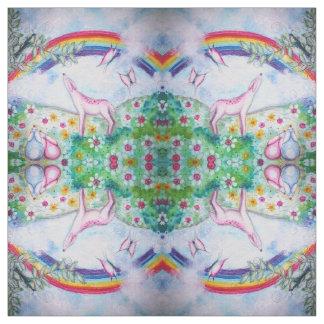 Glücklicher Regenbogen Stoff