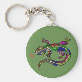 Glücklicher Salamander Schlüsselanhänger