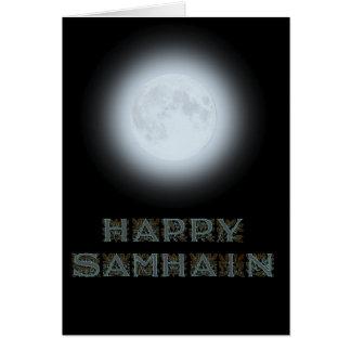 Glücklicher Samhain Vollmond Karte