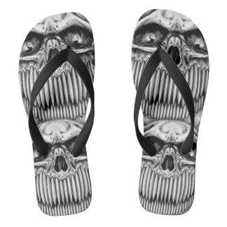 Glücklicher Schädel drehen Reinfälle um Flip Flops