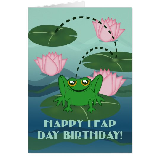 Glücklicher Schalttag-Geburtstag! Springen des Grußkarte