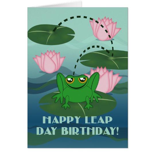 Glücklicher Schalttag-Geburtstag! Springen des Karte