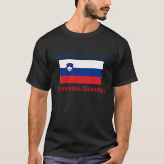 Glücklicher slowenisch Großvater T-Shirt