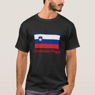 Glücklicher slowenisch Papa T-Shirt