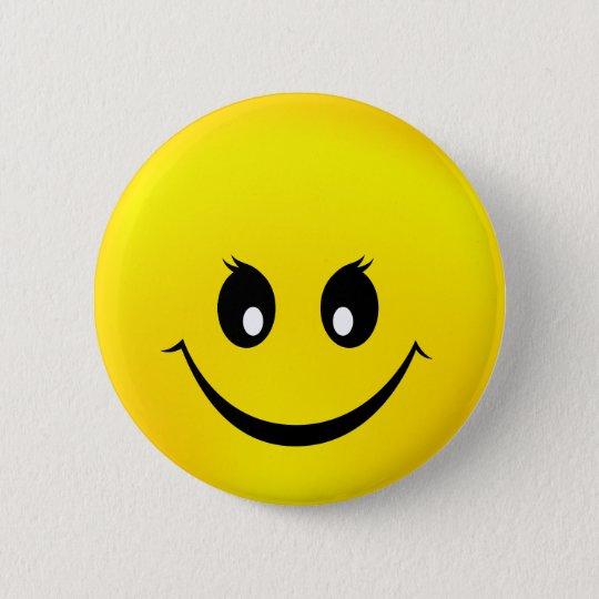 Glücklicher Smiley Runder Button 5,1 Cm