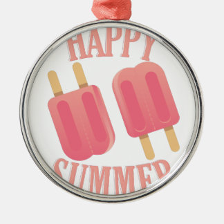 Glücklicher Sommer Silbernes Ornament