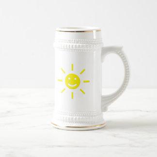 Glücklicher Sonnenschein Bierglas