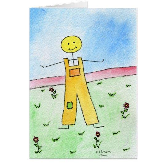 Glücklicher Stock-Mann Grußkarte