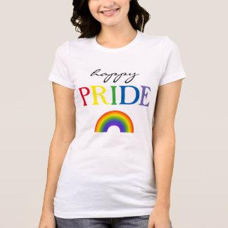 Glücklicher Stolz-Regenbogen T-Shirt