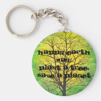 Glücklicher Tag der Erde-Schlüsselkette Schlüsselanhänger