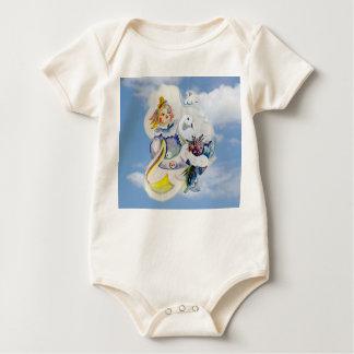 Glücklicher Tag in den Wolken Baby Strampler