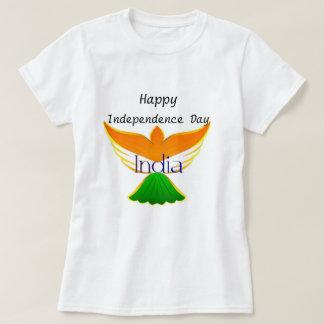 Glücklicher Unabhängigkeitstag Indien (Flagge auf T-Shirt