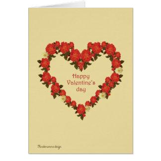 Glücklicher Valentinstag Karte