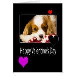 Glücklicher Valentinstag mit Königcharles Spaniel Karte