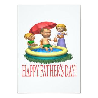 Glücklicher Vatertag 12,7 X 17,8 Cm Einladungskarte
