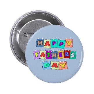 Glücklicher Vatertag Buttons