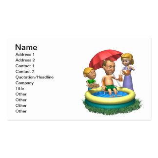 Glücklicher Vatertag Visitenkarte