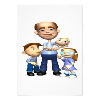 Glücklicher Vatertag Ankündigungskarten