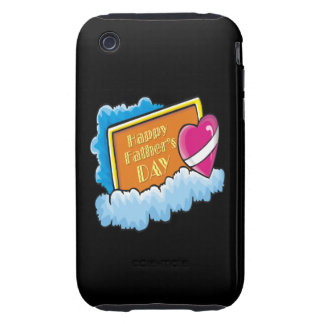 Glücklicher Vatertag iPhone 3 Tough Cases