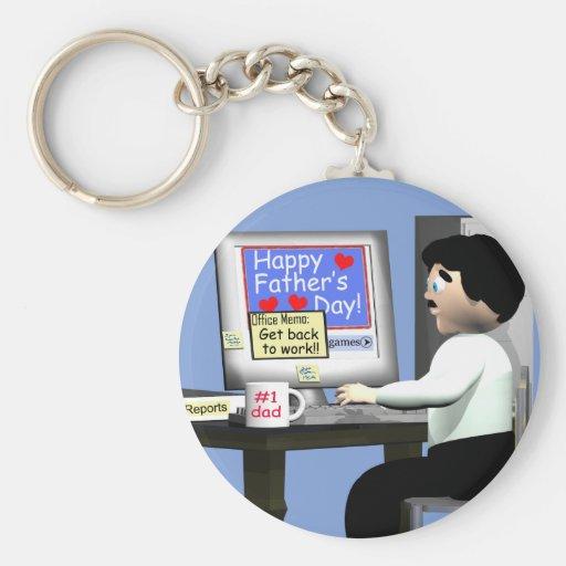 Glücklicher Vatertag im Büro Schlüsselanhänger