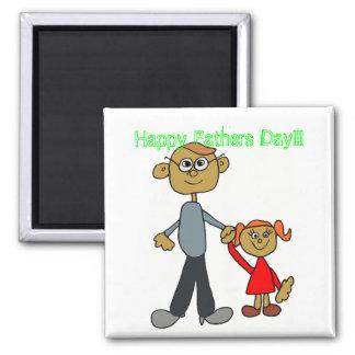 Glücklicher Vatertag!!! Quadratischer Magnet