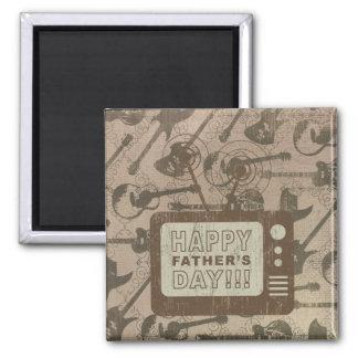 Glücklicher Vatertag Quadratischer Magnet
