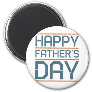 Glücklicher Vatertag! Runder Magnet 5,1 Cm