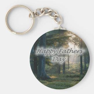 Glücklicher Vatertag Standard Runder Schlüsselanhänger