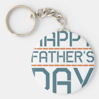 Glücklicher Vatertag! Standard Runder Schlüsselanhänger