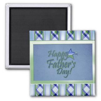 glücklicher Vatertag Stern-Vati Quadratischer Magnet