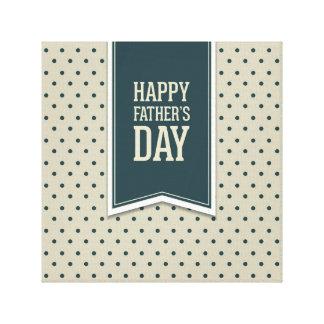 Glücklicher Vatertag, Tupfen, grüne Beige, Galerie Falt Leinwand