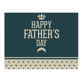 Glücklicher Vatertag, Tupfen, grüne Beige, Postkarten
