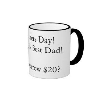 Glücklicher Vatertag! zum Weltbesten Vati! Oh, Ca… Ringer Tasse