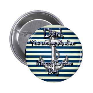 Glücklicher Vatertags-Anker Runder Button 5,7 Cm