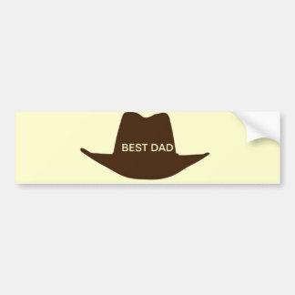 Glücklicher Vatertags-Cowboy-Vati Autosticker