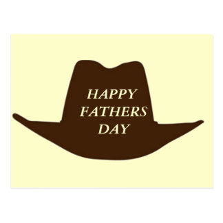 Glücklicher Vatertags-Cowboy-Vati Postkarte
