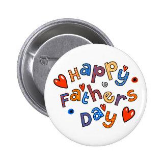 Glücklicher Vatertags-Feiertags-Text Runder Button 5,7 Cm