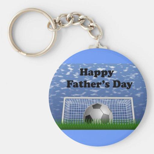 Glücklicher Vatertags-Fußball Schlüsselband